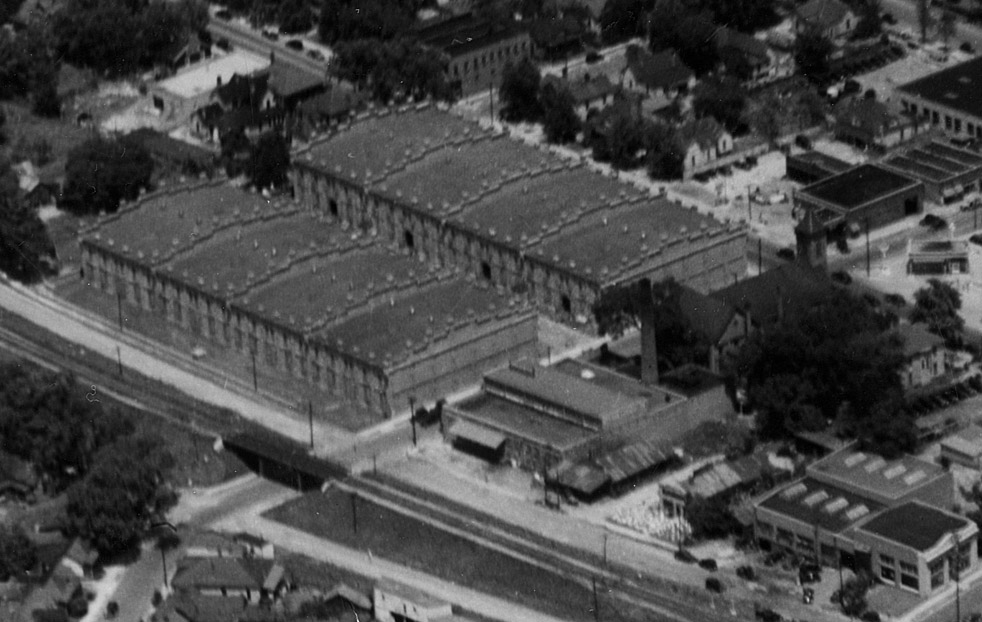 Brightleaf 1930 aerial view