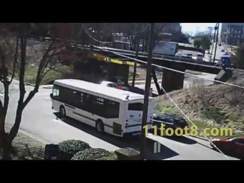 Dumpster hits crashbeam