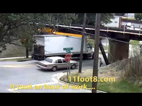 Another truck stuck for an hour under the 11foot8 bridge