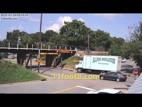 Insulation truck crashes at the 11foot8 bridge
