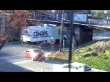 Cintas truck was not READY for the 11foot8 bridge