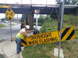 "The end of ""Overheight when Flashing"""