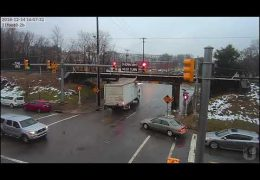 Red light runner crashes at the 11foot8 bridge