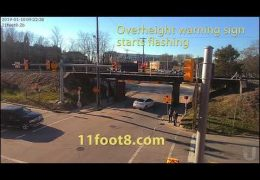 Truck crashes at the 11foot8 bridge and then hits a car