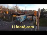 Speeding semi gets smashed up at the 11foot8 bridge