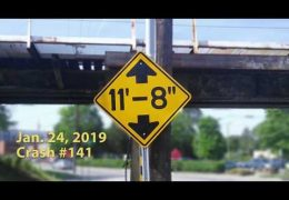 Red light runner hits the 11foot8 bridge