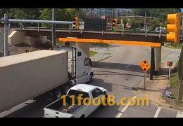 Semi destroys fairing at the 11foot8+8 bridge