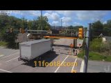 Boxtruck tries to sneak up to the 11foot8+8 bridge