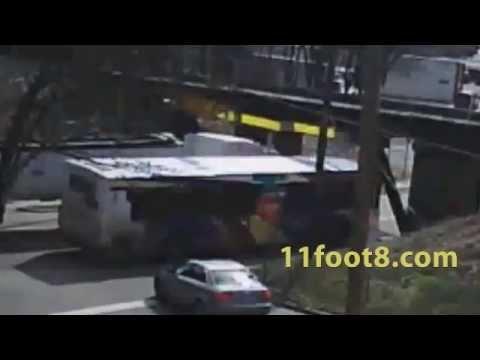 Semi bends tall stacks at 11foot8 bridge