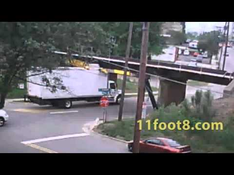 Truck smashes front of the box