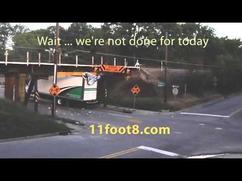 Two crashes in one morning at the 11foot8 bridge