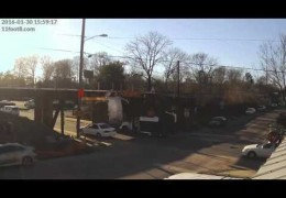 Boxtruck crashes and leaves present at the 11foot8 bridge