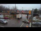 Red light runner crashes at the 11foot8 bridge