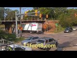 Boxtruck carnage on Friday the 13th at the 11foot8 bridge