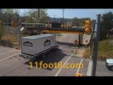 Another delivery truck scrapes the roof at the 11foot8+8 bridge